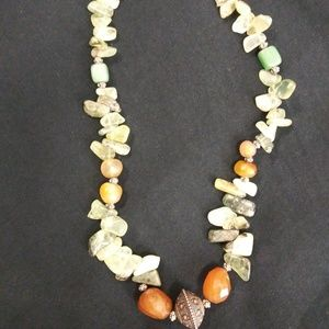 Mixed Stone Necklace Jade Corundum